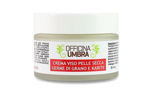 Crema viso idratante karitè e germe di grano per pelle secca e sensibile