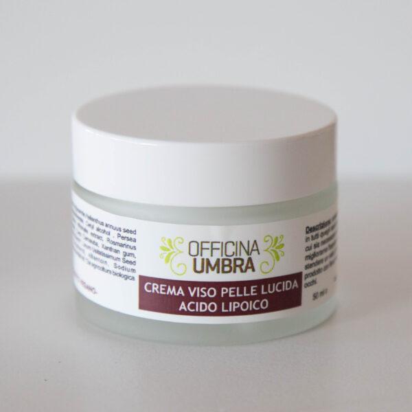 Crema viso contro i pori dilatati per pelle lucida all'acido lipoico
